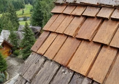 Multi Unit Strata Complex Roof Cleaning and Treatment near Nicklaus North, Whistler